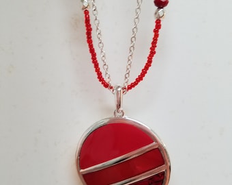 Sale Red beaded necklace