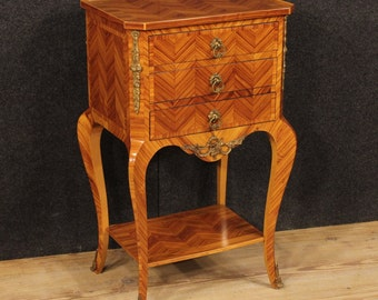 French side table in rosewood with gilt bronzes