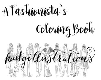 A Fashionistas Coloring Book