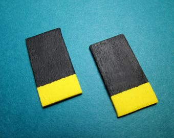 Time Block Earrings in Neon Yellow