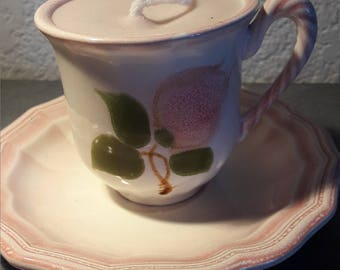 Cup and under pastel pink Cup