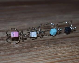 Marble Cube Shape Rings   Midi Rings   Marble Waves Rings   Unique Handmade Rings