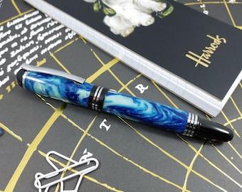 Hand Made Fountain Pen. Custom Churchill Fountain Pen for the serious collector. The perfect Executive Gift or Desk Pen.