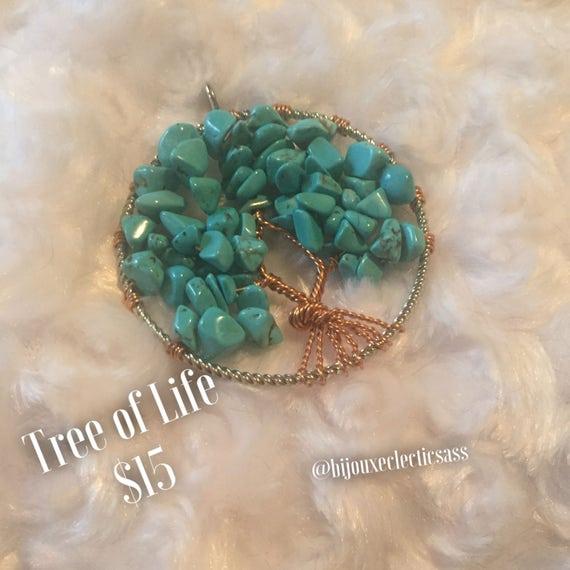 {Blue Jasper} Tree of Life