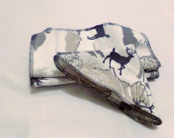 Alaskan dream cloth wipes - re-usable wipes- cloth wipes- wilderness wipes -  wildlife wipes - SET OF 5 - BabyGotBAC by Erica - cloth wipes