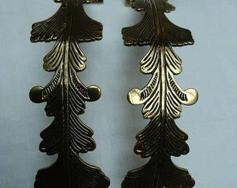 Vintage 1970's Regency Acanthus Leaves Style Brass Curtain Tie Backs BoutiqueByDanielle Interior Design
