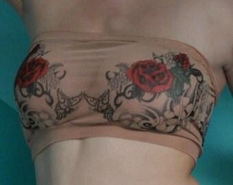 Roses Bandeau Bra Lingerie Top