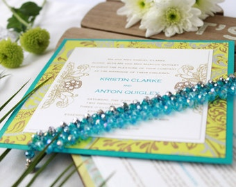 Henna Inspired Wedding Invitations - Sample Set + Voucher