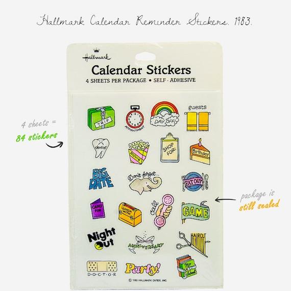 Calendar Planner Reminder Stickers : Vintage calendar reminder stickers sticker sheets