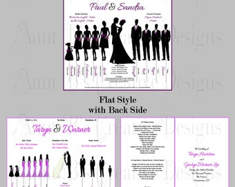 Flat Style Wedding Program