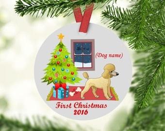 Poodle Ornament - Poodle Christmas Ornament - Poodle - Poodle's First Christmas Ornament - Poodle Gifts