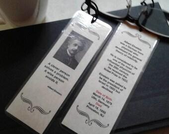Albert Einstein bookmark.  Handmade