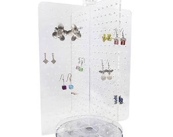 Ikee Design Acrylic Rotating Jewelry Display Earring Stand (SKU#JWY6025)
