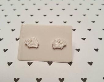 Little sheep sterling silver stud earrings.