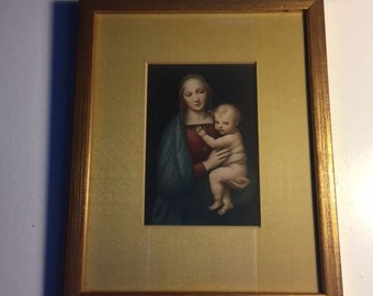 Framed Print Madonna and Baby Jesus, Mary and Christ Child