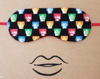 The Beatles Two-sided Sleep mask