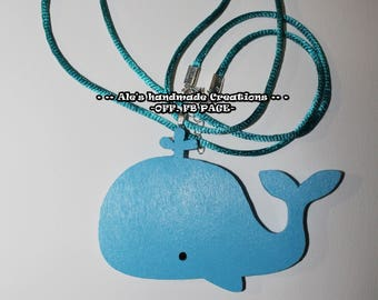 Resin necklace ' Whale '