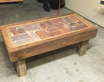 Charleston Brick Paver Coffee Table