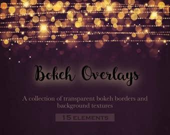 Bokeh confetti borders, bokeh frames, bokeh overlays, metallic bokeh, gold bokeh, bokeh effects, silver bokeh, clipart, INSTANT DOWNLOAD