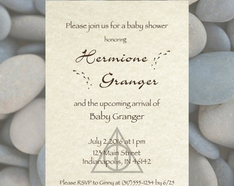 custom digital baby shower invitation harry potter theme