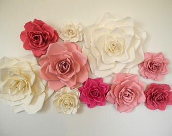 12 Piece Paper Flowers