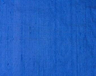 Blue Dupion Silk Fabric