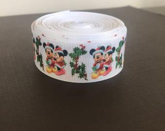 Mickey Christmas Ribbon - 5 Yards