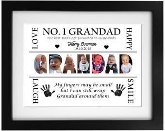 Personalised Grandad Photo Word Art Frame