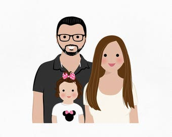 Personalized paper gift idea. Custom gift. 1 year anniversary gift. Housewarming gift. Gifts for friends. Custom portrait. Portrait for mom