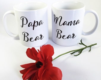Papa Bear/Mama Bear mug