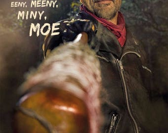 The Walking Dead- Negan Poster (2017) 11 x 17 Movie Poster - Style C