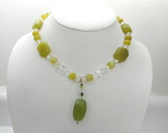 Bohemian Necklace, Chunky Necklace, Statement Necklace, Sterling Bohemian Necklace, Stone Necklace, Vintage Necklace,  #1529