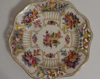 Reticulated or Pierced Decorative Plate