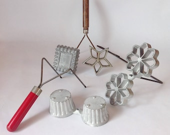 Vintage WAF-L-ETTE Waffle and Patty Shell Molds 1950's Tart Maker Cast Aluminum