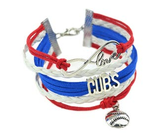 Chicago Cubs Love Friendship Charm Bracelet