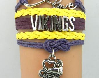 Minnesota Vikings Love Friendship Charm Bracelet