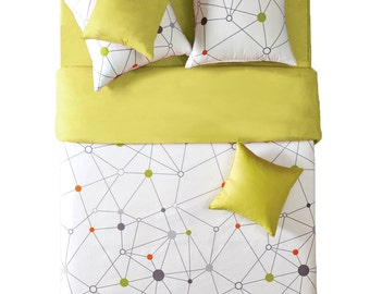 Modern Lime Yellow & Cream Duvet Cover Set