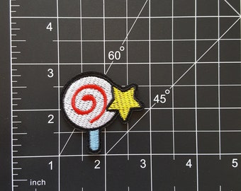 Magical Spiral Lolipop Iron On Patch Free Shipping!