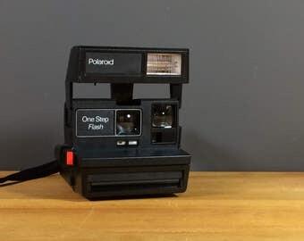 Polaroid One Step Flash Vintage Camera / Vintage Polaroid 600 Camera / Hipster Camera / Retro Polaroid Camera With Flash