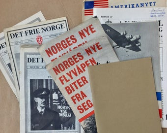 Rare and hard to find - World war 2 (ww2) resistance papers from Norway 1942