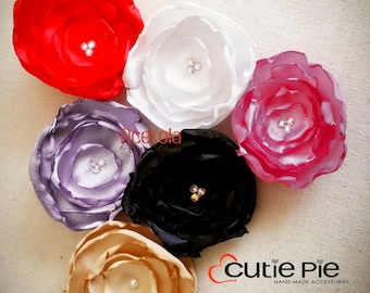 Flower Clip, hair clips, flower clips, silk flower clips, girl accessories
