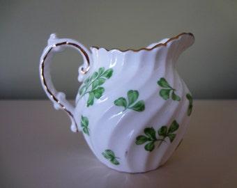 Aynsley Creamer English Porcelain Shamrock Saint Patricks Day