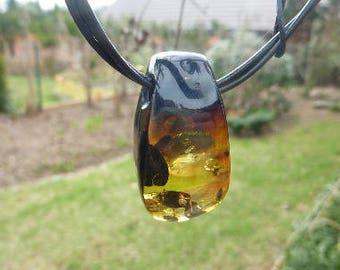 Natural Amber Pendant - Amber  Necklace Baltic Amber Jewelry Amber Stone Bib Necklace
