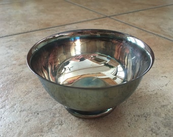 Gorham Paul Revere Silverplated Pedestal Bowl/ Display Piece 1970's
