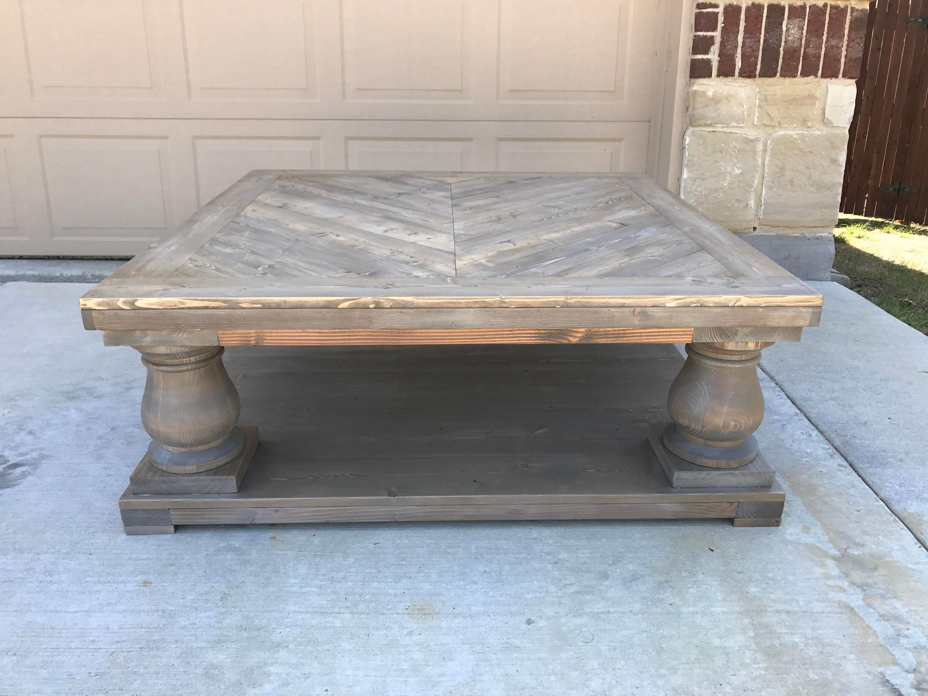 Restoration Hardware Inspired Balustrade Coffee Table