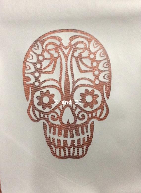 Gothic skull cake decorating/airbrush mesh stencil from ...