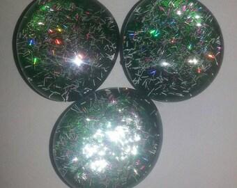 Green Confetti refrigerator Magnets