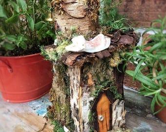 Fairy house birdhouse with tower