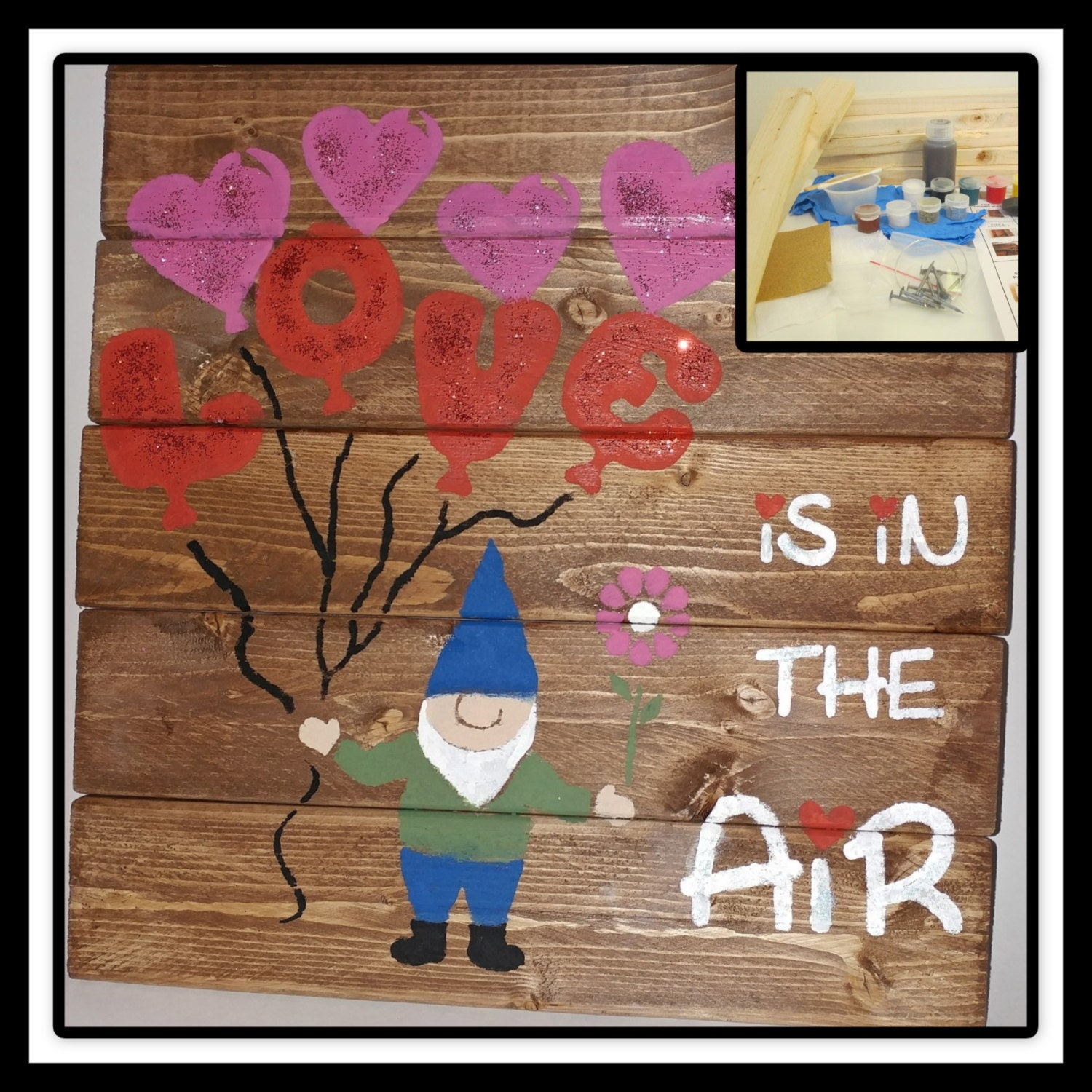 Craft Kit Diy Home Decor Craft Project Love In The Air Board Sign Craft Kit Make Your