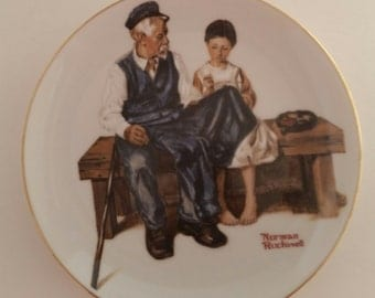 Norman Rockwell's The Lighthouse Keeper's Daughter Collectors Plate/Norman Rockwell/Collectible Plate/Vintage Norman Rockwell/1982